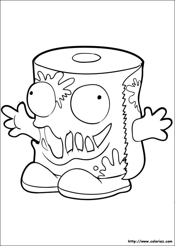 567x794 Trash Pack Coloring Page Fiesta Grossery Gang