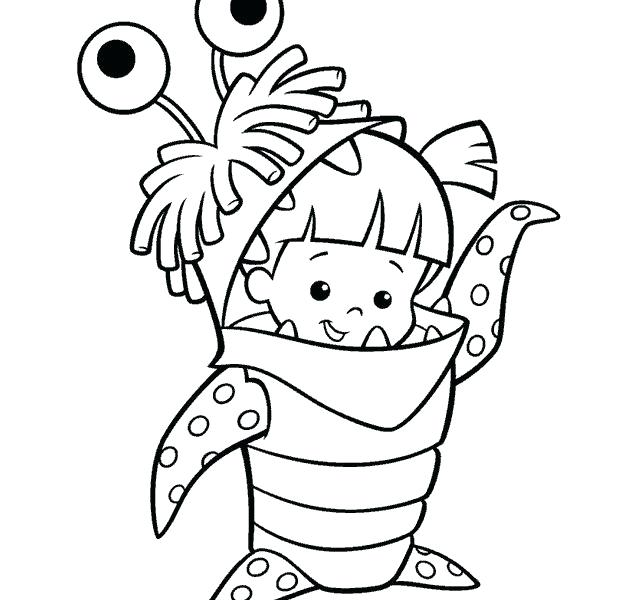 640x600 Cute Monster Coloring Pages Cartoon Monster Coloring Pages Best