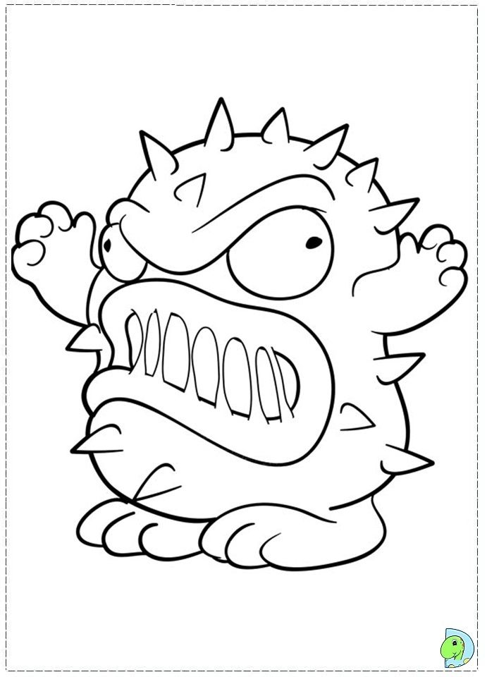 691x960 Free Coloring Pages Of Trash Pack Uft Ajs Birthday
