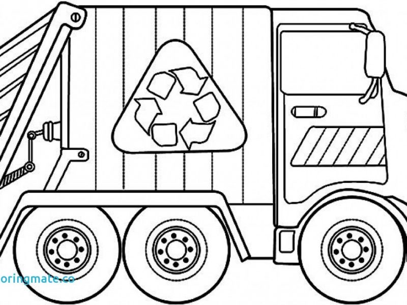 800x600 Exquisite Decoration Garbage Truck Coloring Page Garbage Truck