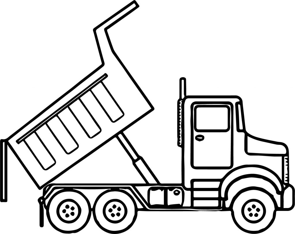 1024x810 Garbage Truck Coloring Page