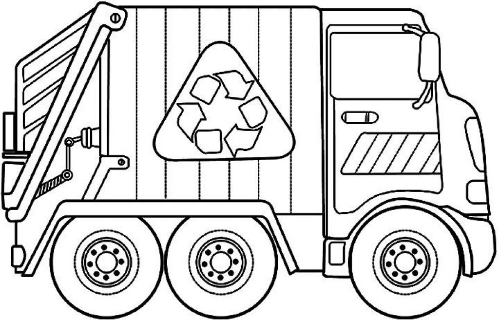 1024x657 Garbage Truck Coloring Page Best Of Garbage Truck Coloring Pages
