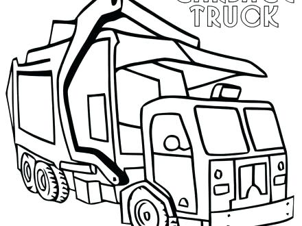 440x330 Garbage Truck Coloring Page Coloring Pages Garbage Truck Garbage