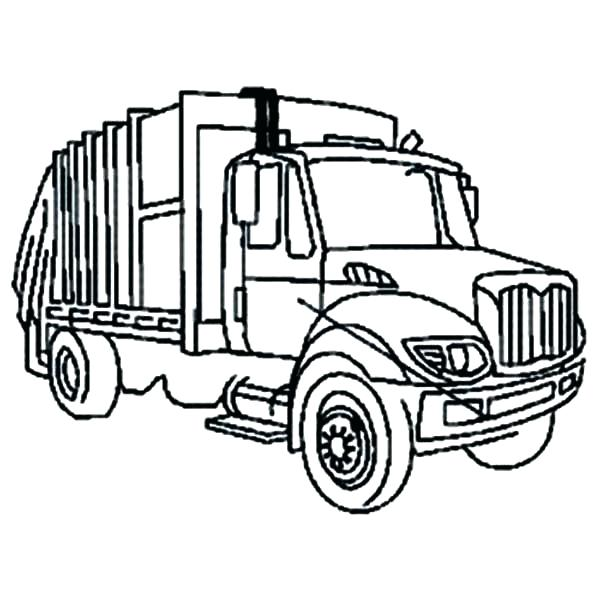 600x600 Coloring Pages Of Trucks Garbage Truck Printable Coloring Pages
