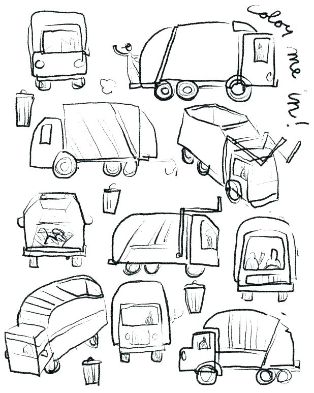 618x773 Garbage Truck Coloring Pages Trash Truck Coloring Pages Trash