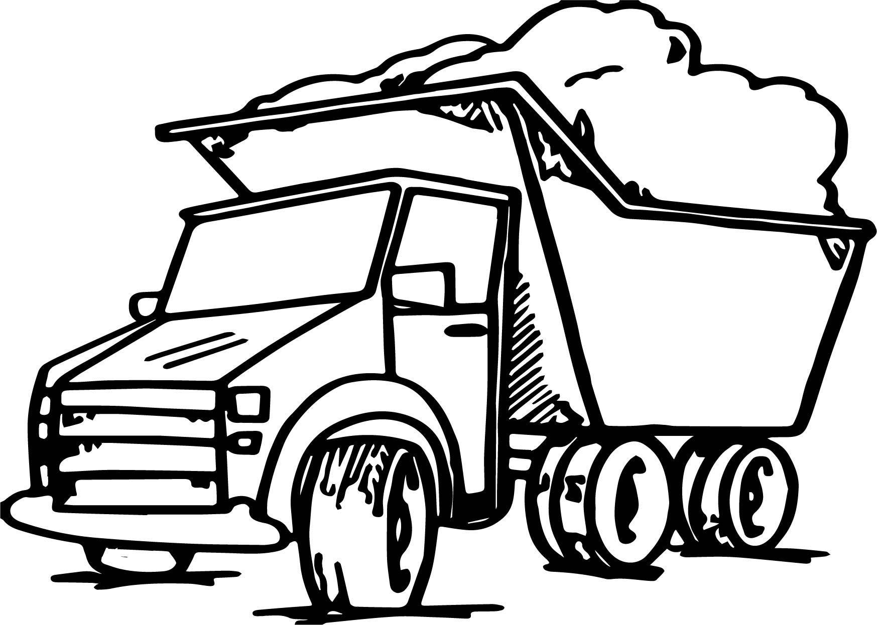 1747x1246 Incredible Garbage Truck Coloring Page Apurjacouture Of Tonka