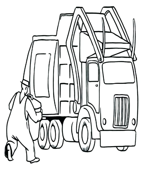 600x753 Trash Pack Truck Coloring Pages Garbage Truck Coloring Page Plus
