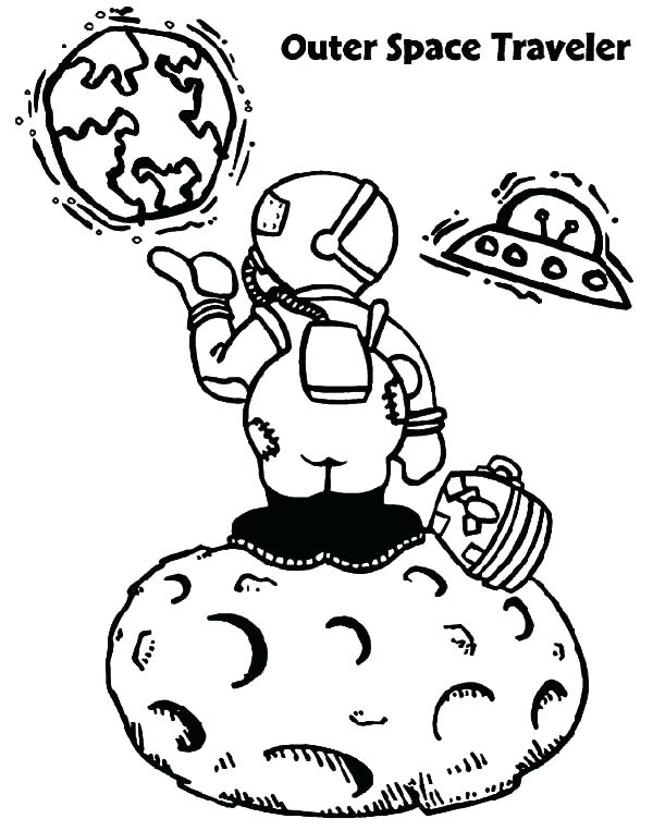 600x763 Travel Coloring Pages Outer Space Traveler Space Travel Coloring