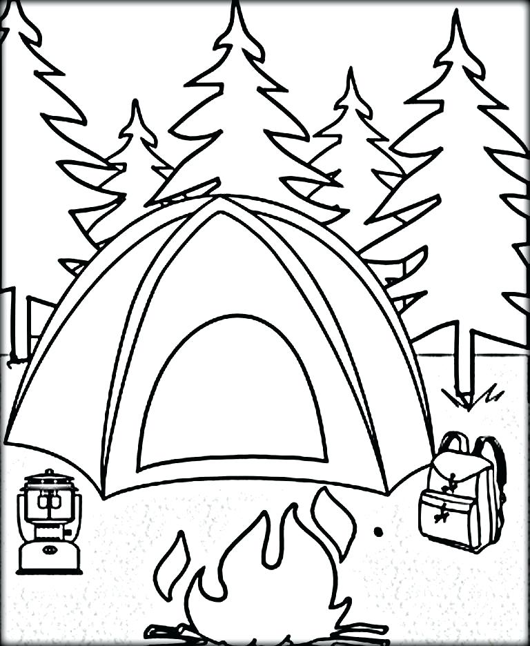 768x936 Camping Coloring Pages Camping Coloring Page Lovable Camping
