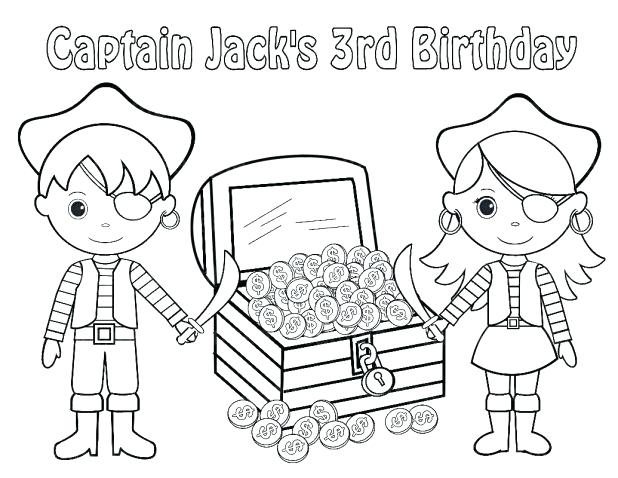 Treasure Box Coloring Page