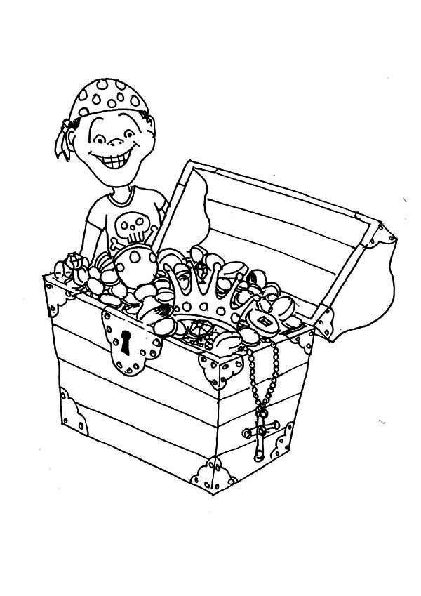 600x849 Open Treasure Chest Coloring Pages