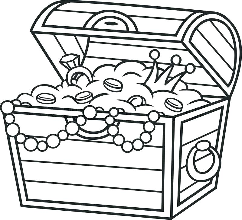 800x729 Pirate Treasure Chest Coloring Page Coloring Pages Treasure Chest