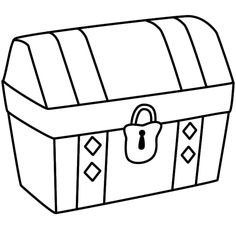 236x236 Bible Treasure Chest Coloring Page