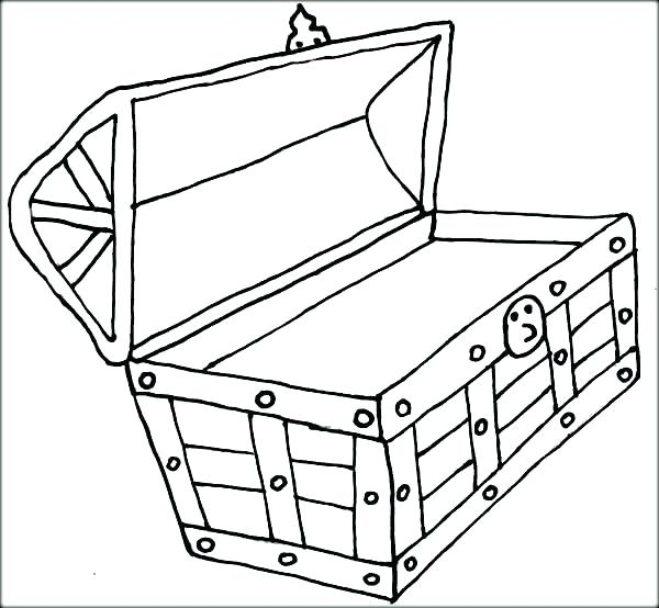 600x554 Treasure Box Drawing At Free For Personal Use Treasure Chest