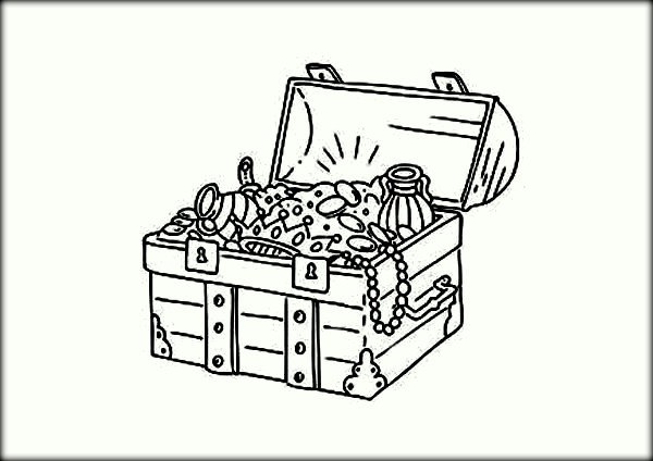 600x424 Treasure Chest Coloring Page Printable Coloring Pages