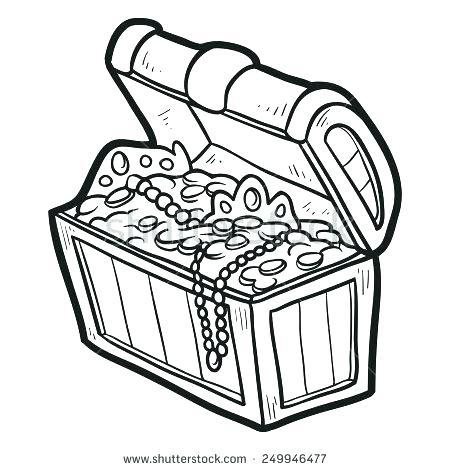 450x470 Treasure Chest Coloring Page Empty Treasure Chest Colouring Page