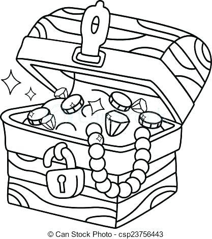 417x470 Treasure Chest Coloring Page Free Coloring Printable Treasure