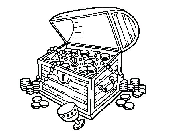 600x470 Treasure Chest Coloring Page Scavenger Hunt Coloring Page Coloring