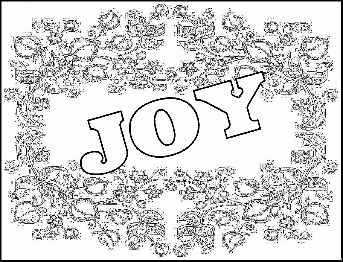 1147x876 New Year's Coloring Pages Childrens Gems In My Treasure Box Joy