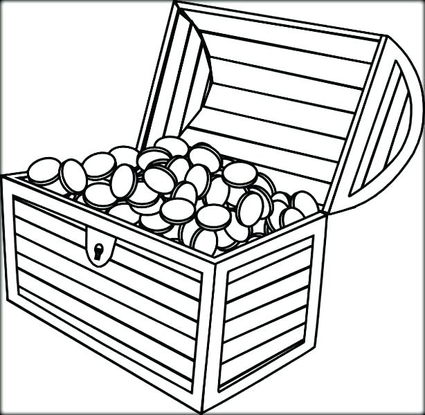 614x600 Treasure Chest Coloring Pages