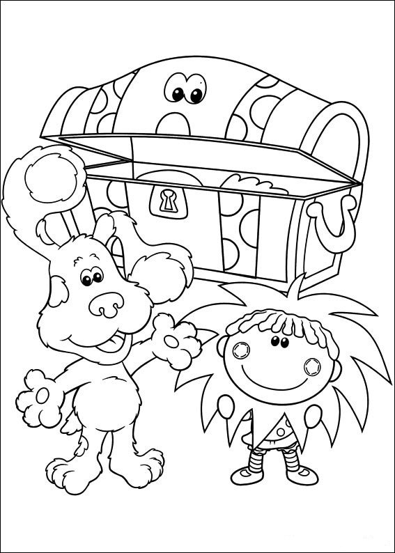 567x794 Blues Found Treasure Box Coloring Page Animal Pages