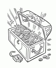 236x288 Treasure Chest Pictures To Print And Color Images Of How To Draw