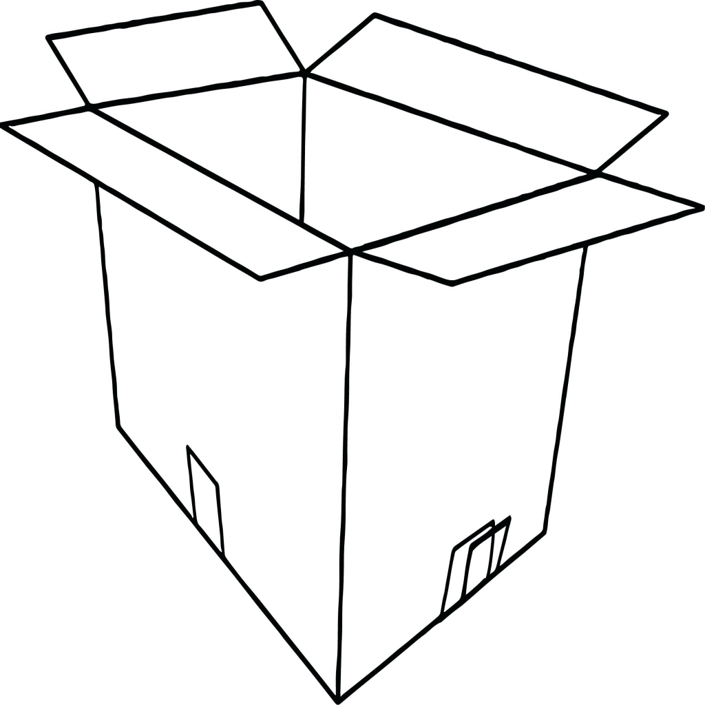1024x1024 Coloring Box Coloring Page Empty Open Treasure Chest Sheet Box