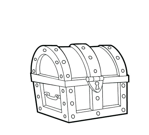 600x544 Treasure Chest Coloring Pages Treasure Chest Coloring Pages
