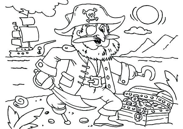 600x425 Treasure Coloring Pages Coloring Pages And The Pirates Treasure
