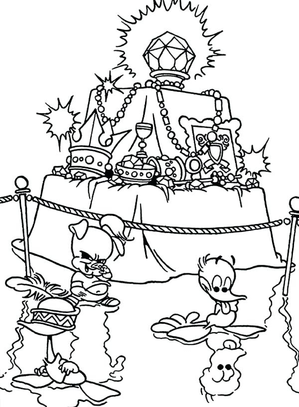 600x816 Treasure Coloring Pages Empty Treasure Chest Coloring Page