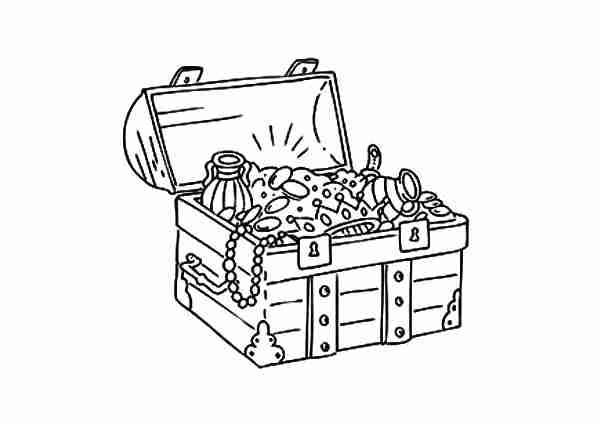 600x424 Excellent Treasure Chest Coloring Page New Stunning
