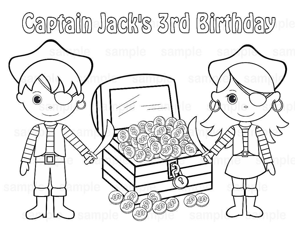 1035x800 Girl Pirate Coloring Pages Flowers Big Within Treasure Chest Page