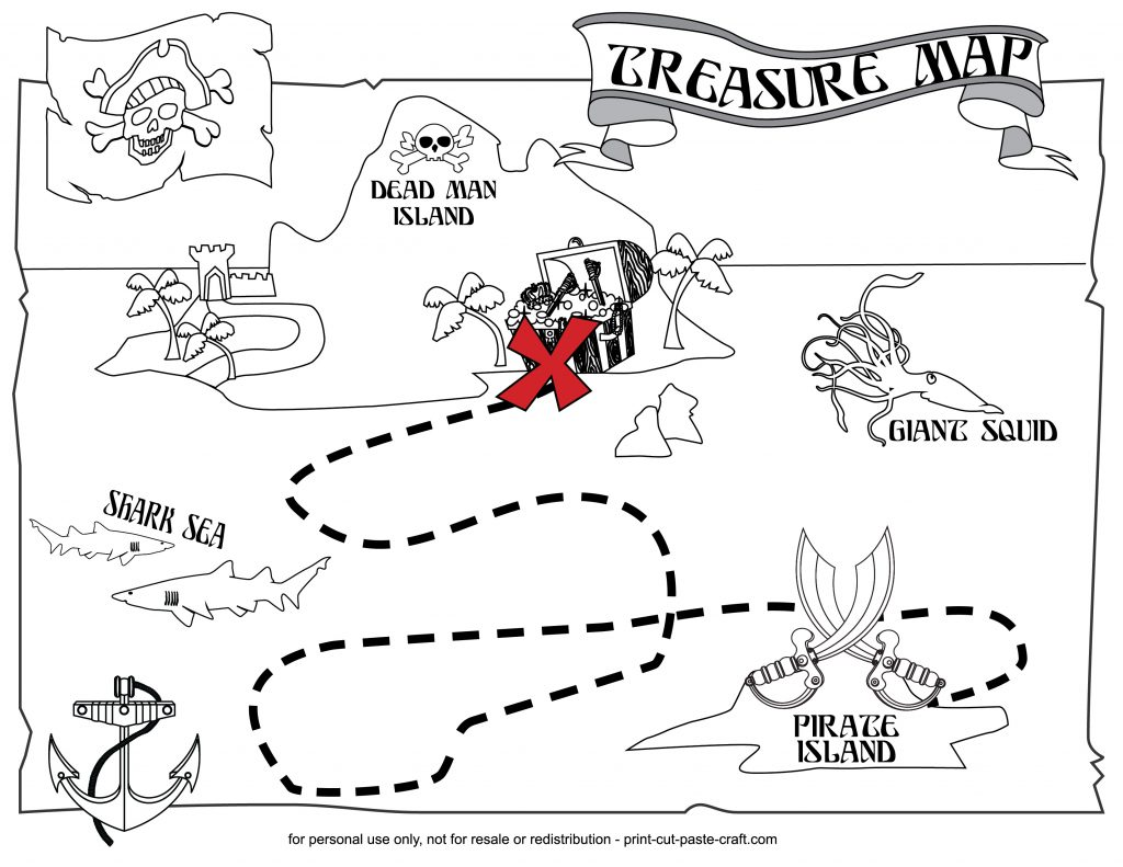 1024x791 Impressive Treasure Map Coloring Pages