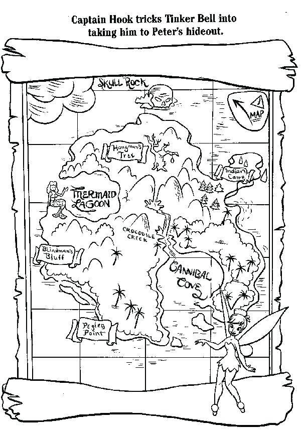 600x863 Treasure Coloring Pages Treasure Map Coloring Pages Captain Hook