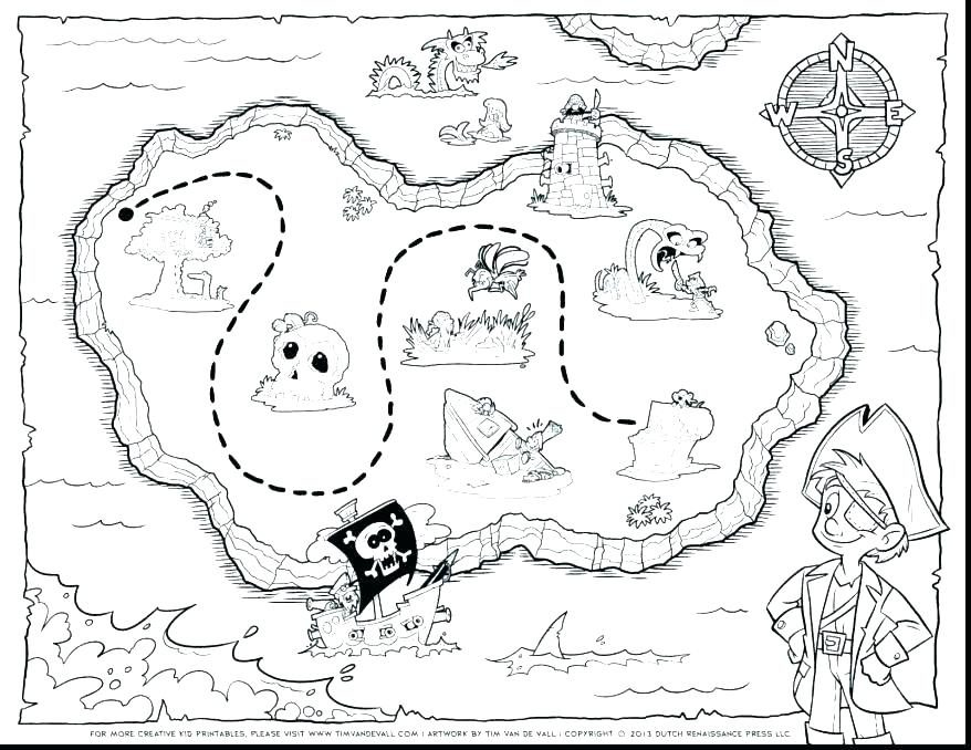 Treasure Map Coloring Page at GetDrawings.com | Free for ...