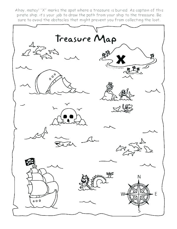 600x776 Jake And The Neverland Pirates Treasure Map Coloring Page Treasure