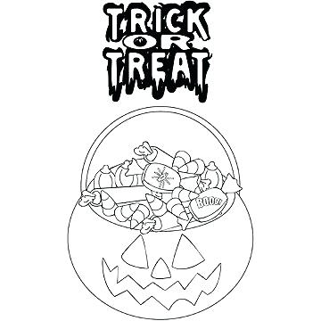 360x360 Trick Or Treat Coloring Page Trick Or Treat Coloring Pages Fun
