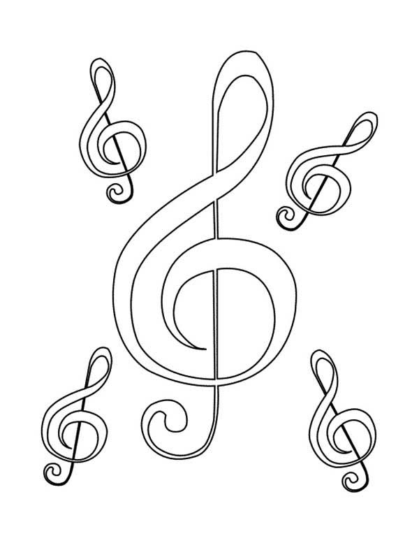 600x777 Mother Of Treble Clef Coloring Page