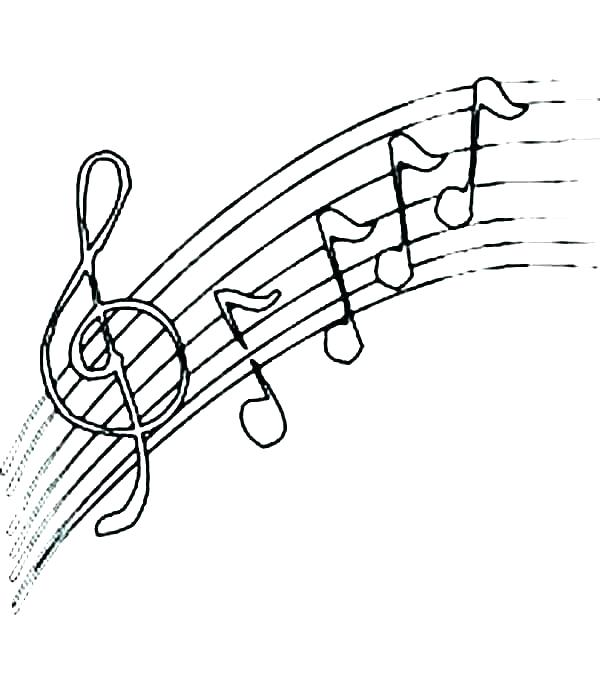 600x692 Treble Clef Coloring Page Music Note Coloring Page Music Note