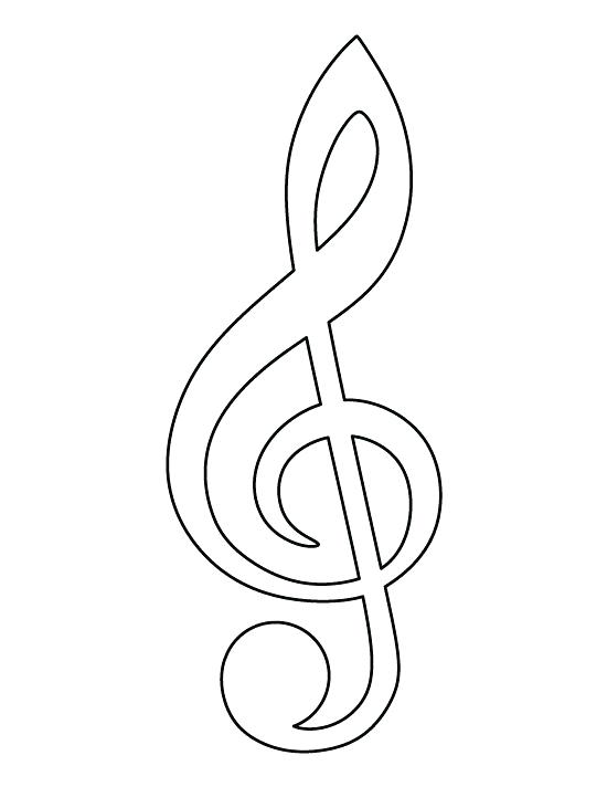 550x712 Treble Clef Coloring Page Treble Clef Pattern Use The Printable