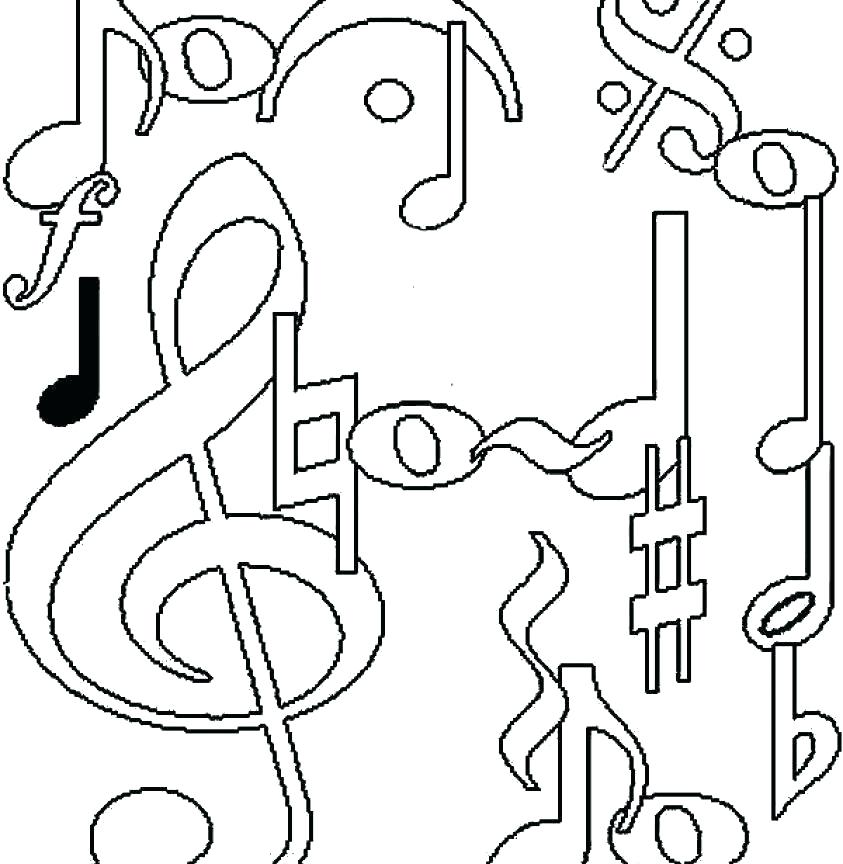 843x864 Coloring Music Notes Coloring Pages Treble Clef Is Note Page