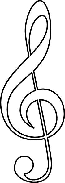 210x593 Treble Clef Template Treble Clef Coloring Pages Madratco