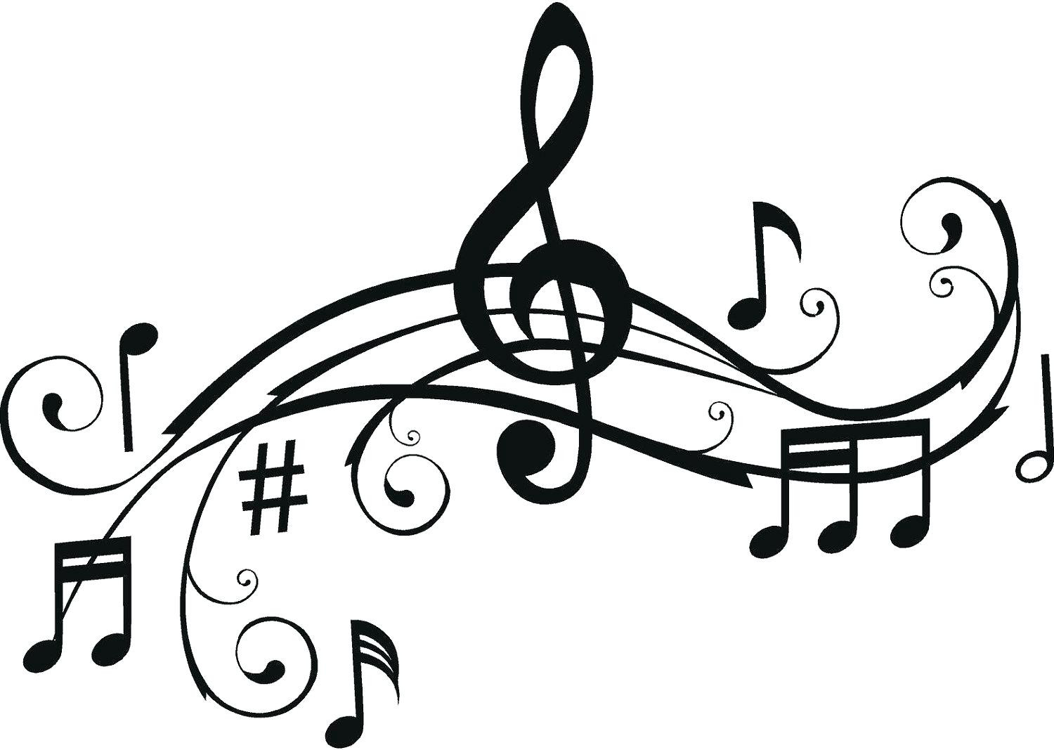 1500x1067 Coloring Pages Flowers Music Note Desing Of Treble Clef Page Also