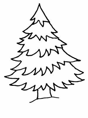 300x400 Tree Colouring Pages Free Christmas Tree Coloring Pages
