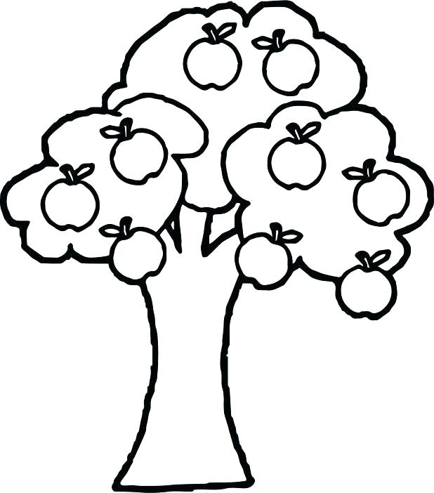618x702 Coloring Page Of An Apple Apple Tree Coloring Sheets Apple Tree