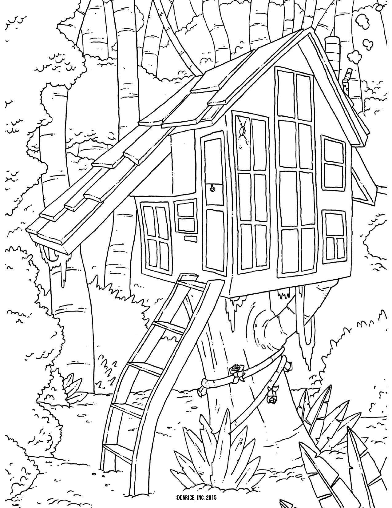 1275x1650 Printable Coloring Pages For Adults Houses House Coloring Pages