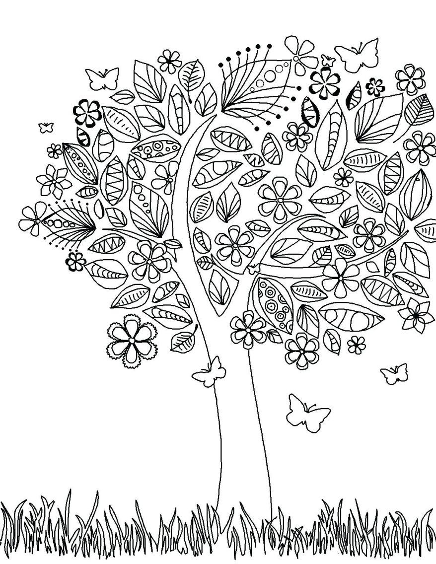 878x1136 Stunning Elephant A Tree Coloring Page Adult Astonishing