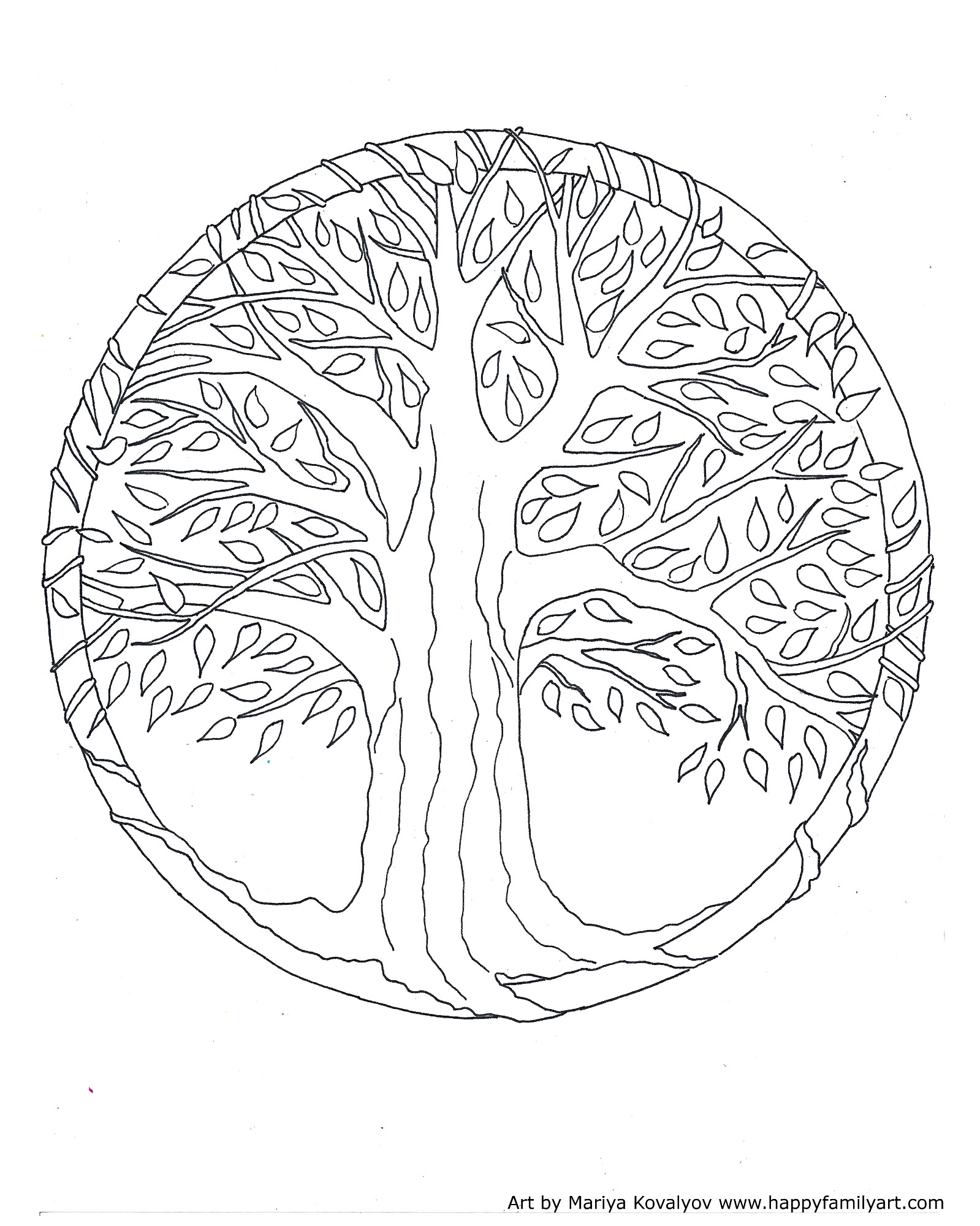 1599x2000 Tree Coloring Pages For Adults Menmadeho Me Incredible