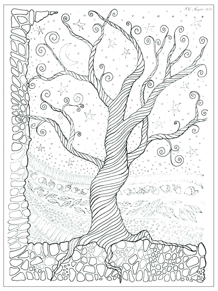 750x1000 Surprising Tree House Coloring Pages