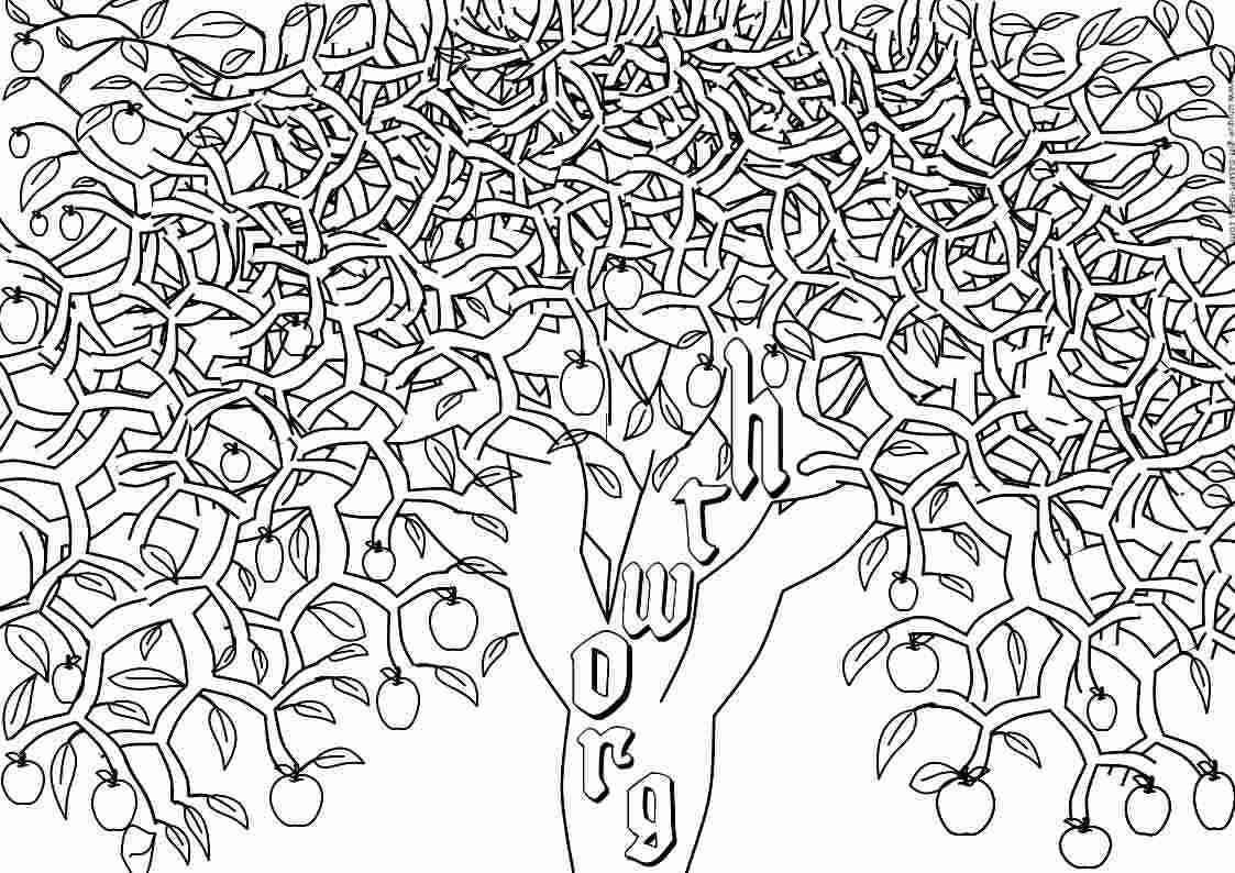 1123x794 Adult Coloring Pages Tree Coloring Pages Ripping For Adults